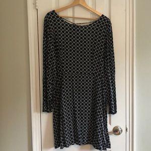Black & White Bell Sleeve Dress
